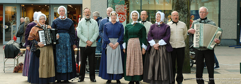 Folkloristische Dansgroep 't Aol Volk, Emmen<br /> Foto: Cees Tempel