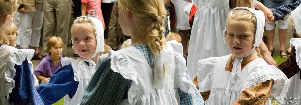 Jeugd- en kinderdansgroep 't Aol Volk, Emmen<br /> Foto: Cees Tempel